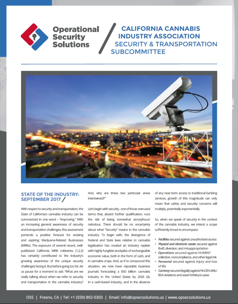 State of the Industry-CCIA Security & Transportation