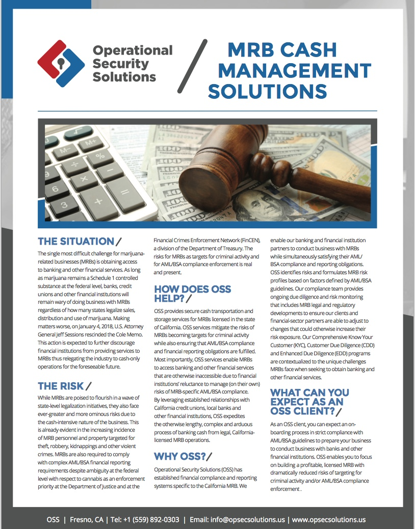 OSS Cash Management Solutions